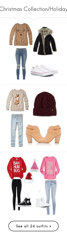 """""""Christmas Collection/Holiday"""" by that-girl-j ❤ liked on Polyvore featuring Hollister Co., Frame, Converse, rag & bone, Dr. Martens, Aéropostale, New Look, Tiffany & Co., Mela Loves London and Abercrombie & Fitch"""