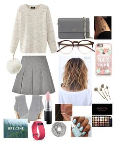 """""""Untitled #107"""" by leylajune on Polyvore featuring Donald J Pliner, T By Alexander Wang, Nolita, DKNY, Wildfox, Casetify, Red Camel, MAC Cosmetics, Charlotte Russe and Fitbit"""