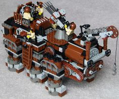 Super-Heavy Lego Steam Hex-Walker Mk. XXV (Command Variant) (back) by Ɍaillery, via Flickr