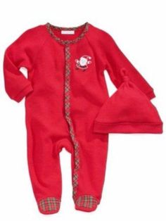 206cff33e Infant Christmas Outfit Red Thermal Santa Sleeper & Hat Baby Boys, Toddler  Boys, Toddler