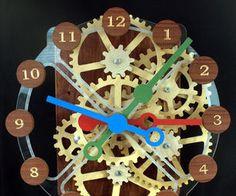 Wood Gear Clock With Stepper Motor Drive: 19 Steps (with Pictures) Wooden Gear Clock, Wooden Gears, Wood Clocks, Arduino, Mechanical Clock, Mechanical Design, Earth Dome, Gear Wheels, Stepper Motor