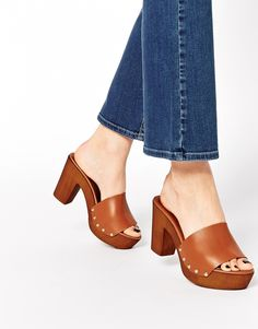 ASOS HOMEBOUND Leather Mules