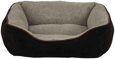 Dallas Manufacturing Co Products Faux Suede Box Pet Bed 25Inch Brown >>> You can get additional details at the image link.