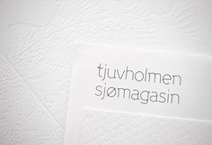 "Work in Progress, ""Tjuvholmen Sjømagasi"" Identity, Oslo Norway."