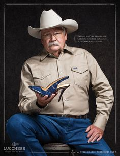 Read more: https://www.luerzersarchive.com/en/magazine/print-detail/lucchese-57321.html Lucchese Randall won't be wearing our Carolina Slingback in Cavalry Blue American Alligator. Campaign to promote the launch of the first line of women's footwear from traditional US bootmaker Lucchese. Each pair of ads appeared in magazines on consecutive pages. Tags: Trevor Paulhus,Johnson & Sekin, Dallas,Krista McCrimmon,Clint Martin,Lucchese
