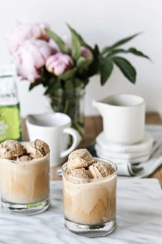 a coffee ice cream and cold brew float,