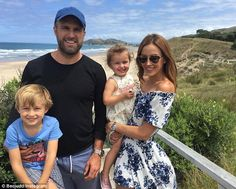 Family fun: Rebecca Judd, 32, her husband Chris, 32, and their children four-year-old son ...