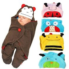 Baby swaddle blanket with hood and feet. Perfect for when going out. $12.95 from Aliexpress