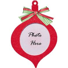 Silhouette Design Store - View Design #22369: photo frame christmas ornament