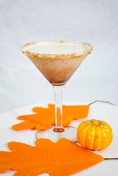 Pumpkin Pie Martini ~ A Year of Cocktails