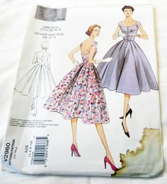 1950s Fit and Flare Dress Sundress low back by retroactivefuture