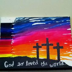 crayon art for mothers day