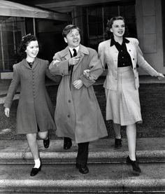 Shirley Temple, Mickey Rooney and Judy Garland at MGM, 1940s.