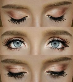Peach and bronze makeup