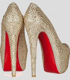 The Christian Louboutin Daffodile 160 is Covered in Gems #holiday #heels trendhunter.com