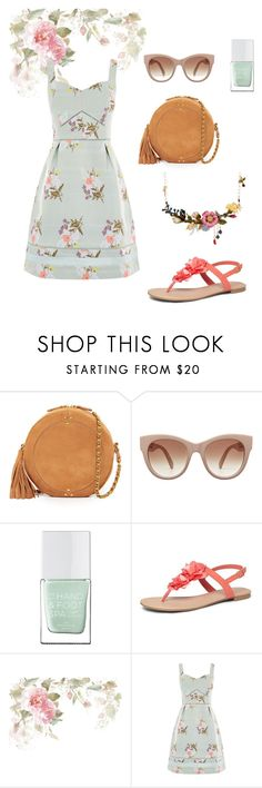 """""""Flowered fashion"""" by sparklequeen1 ❤ liked on Polyvore featuring Jérôme Dreyfuss, STELLA McCARTNEY, The Hand & Foot Spa, Dorothy Perkins, Oasis and Les Néréides"""