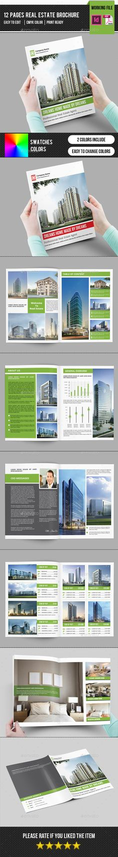 Real Estate Brochure TemplateV304 — InDesign INDD #icons #typography • Available here → https://graphicriver.net/item/real-estate-brochure-templatev304/12720443?ref=pxcr