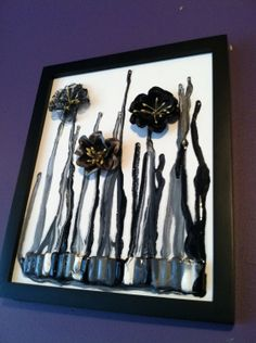 black and gray crayon art!  love love love this!