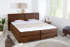 """Das wundervolle Boxspringbett """"QUEENS"""" ist der ideale Partner für erholsame Nächte! Schlafen Sie wie in einem Bett eines 5 Sterne Luxus Hotels. Das durchdachte Schlafkonzept bekannt aus amerikanischen Hotelbetten sorgt für hohen Liegekomfort und entspannten Schlaf."""