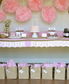 Sweet Shoppe table site has diy banner instructions and treat ideas