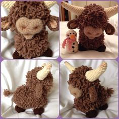 Amigurumi Highland Cow : 1000+ images about Crochet animals on Pinterest ...