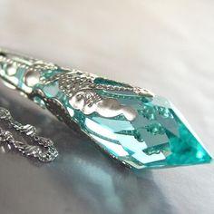 Aquamarine pendant crystal gorgeous!