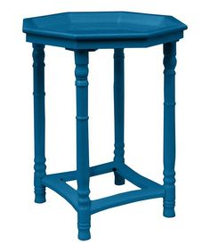 Blue Resin Wooden Accent Table. Our Price: $149.90.