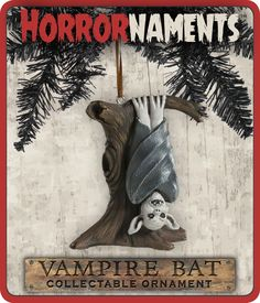 What terrifying tree would be complete without a vampire bat hanging from its branches? This creepy critter will adorn any tree during the day, but we can't be held responsible if he should swoop out