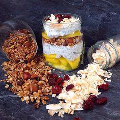 My Casual Brunch: Overnight oats com granola de espelta