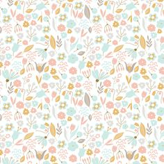 Hand-Drawn Floral Wa