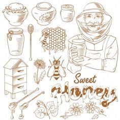 Honey Monochrome Icon Set
