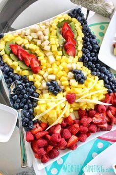 Coelho de frutas.