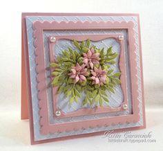 Tiny handmade paper flowers and frame card kittiekraft handmade fs491 framed spring flowers thecheapjerseys Gallery