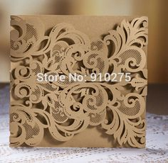 Find More Cards & Invitations Information about 15cm X 15cm Luxury Laser Cut Fleur De Lis Lace Wedding Invitation Invite Template Card Cover 100PCS,High Quality lace wedding invitations,China laser cut Suppliers, Cheap wedding invitation cover from LiveLaughLove on Aliexpress.com