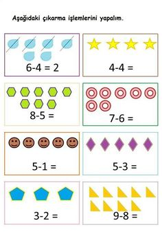 Math Subtraction Worksheets, Teaching Subtraction, Kindergarten Math Worksheets, Math Classroom, Math Activities, Preschool Activities, Creative Activities For Kids, Math For Kids, Christmas Math