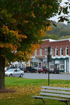 Shops off the village green in South Royalton, VT  Lived