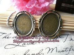 2pcs Cabochon Base Setting Vintage Antique Brass for by ministore, $1.95