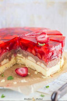 Słodkie Atelier: Ciasto Lodowiec Polish Desserts, No Bake Desserts, Cake Recipes, Dessert Recipes, Pie Dessert, Sweet Cakes, Cheesecake, Food And Drink, Menu