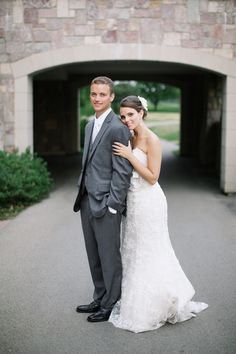 Elegant Navy, Grey and Coral Garden Wedding like the gray tux with navy bridesmaids dresses and mixed florals.  Look through all pix.