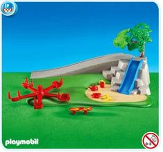 Playmobil 6223 Playground Equipment by Playmobil. $16.99. This item is part of the Direct Service range. This range of products are intended as accessories for or additions to existing Playmobil sets. For this reason these items come in clear plastic bags or brown cardboard boxes instead of a colorful retail box.. Addons usually ship in plastic baggy-like bags, not in the standard retail boxes. This should be considered when gifting. Choking Hazard - Small Part...