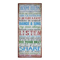 Metal Sign, House Rules AMERICAN MERCANTILE http://www.amazon.com/dp/B00DSAD9IO/ref=cm_sw_r_pi_dp_qsFbub1EYAPVR