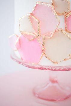 Cake with fun geomet