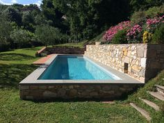 Semi Inground Pools, Home And Deco, Pool Landscaping, Pool Ideas, Declutter, Swimming Pools, House Ideas, Exterior, Landscape
