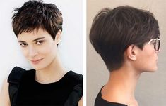 Haircuts 2018 from short to long (photo) Short Pixie Haircuts, Cute Hairstyles For Short Hair, Short Hair Cuts For Women, Pixie Hairstyles, Short Hair Styles, Super Short Hair, Short Grey Hair, Pixie Haircut For Round Faces, Great Hair