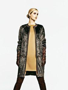 Burda Style: Damen - Mäntel - Kurzmäntel - Pelzmantel - kragenlos