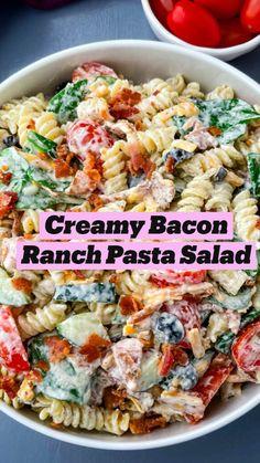 Best Salad Recipes, Easy Pasta Recipes, Cooking Recipes, Healthy Recipes, Delicious Salad Recipes, Easy Pasta Dinners, Cold Summer Dinners, Food Recipes Summer, Summer Dinner Ideas