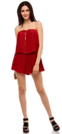 BohoPink - Honey Punch Not Trying Two Tier Strapless Romper, $54.00 (http://www.bohopink.com/honey-punch-not-trying-two-tier-strapless-romper/)