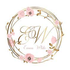 This DIGITAL Wreath flowers logo Custom Logo flower wreath Logo is just one of the custom, handmade pieces you'll find in our digital shops. Blog Logo, Boutique Logo, Flower Logo, Flower Art, Custom Logo Design, Custom Logos, Logo Couronne, Corona Logo, Design Rosa