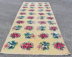 Turkish rug Area rug Vintage rug Carpet Kilim by TurkishRugVillage