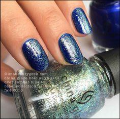 China Glaze Holo At Ya Girl! Over Combat Blue-ts